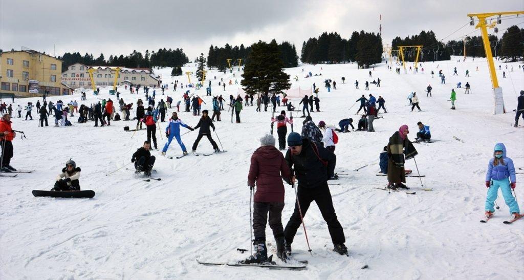 Uludağ'da kayak