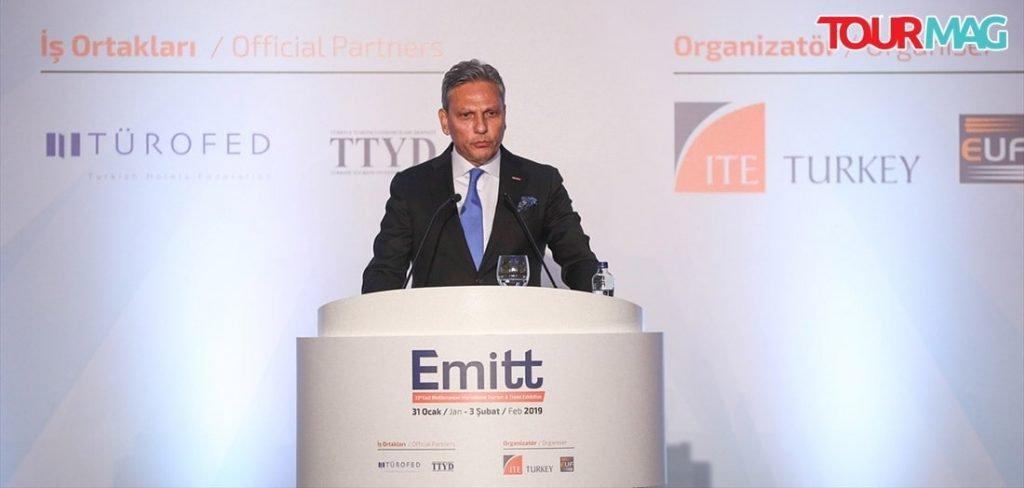 Türkiye Seyahat Acentaları Birliği (TÜRSAB) Yönetim Kurulu Başkanı Firuz Bağlıkaya
