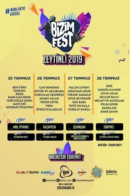 Zeytinli Rock Festivali 2019